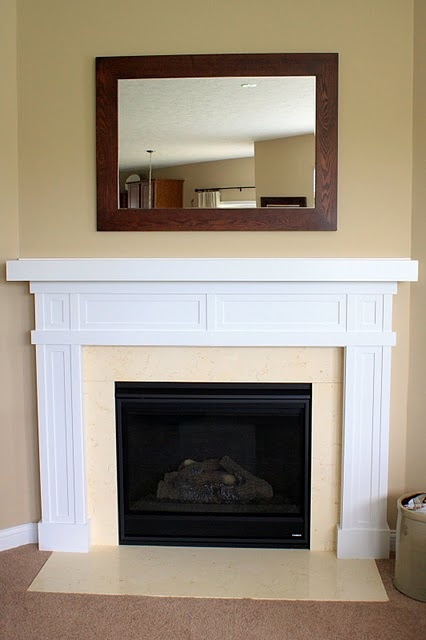 Diy Fireplace Surround Home Decor Pinterest