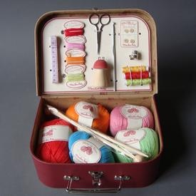 Knitting kit for girls #knitting