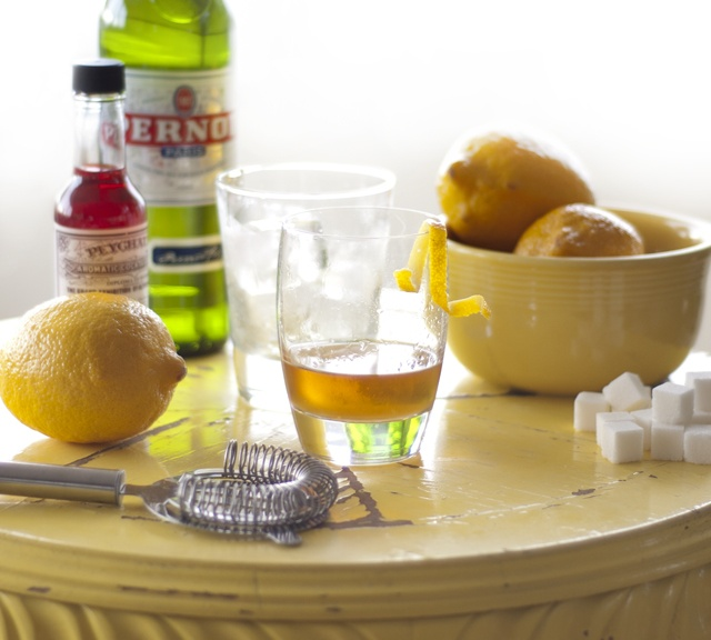 Classic sazerac - just switch absinthe in for Pernod.