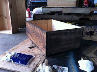 how to stain wine crates