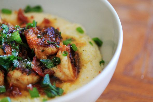 Shrimp & Creamy Parmesan Grits | fooders | Pinterest