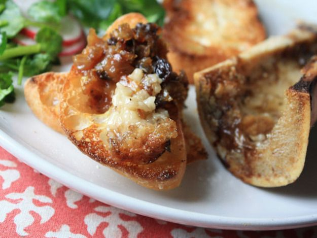 Roasted Bone Marrow with Shallot and Currant Confit | Recipe