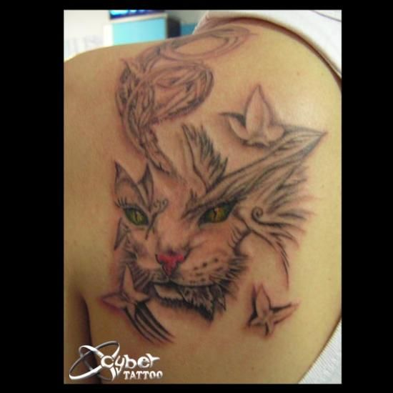 cat facial tattoos