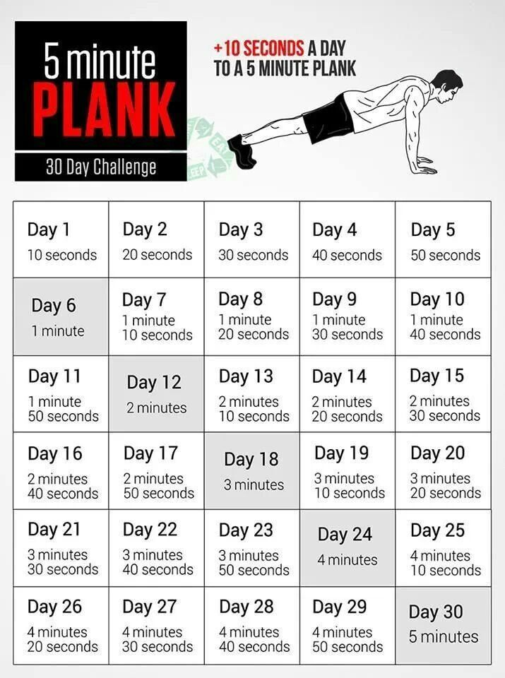 30 day 5 minute plank challenge | Spartan WOD Workouts ...