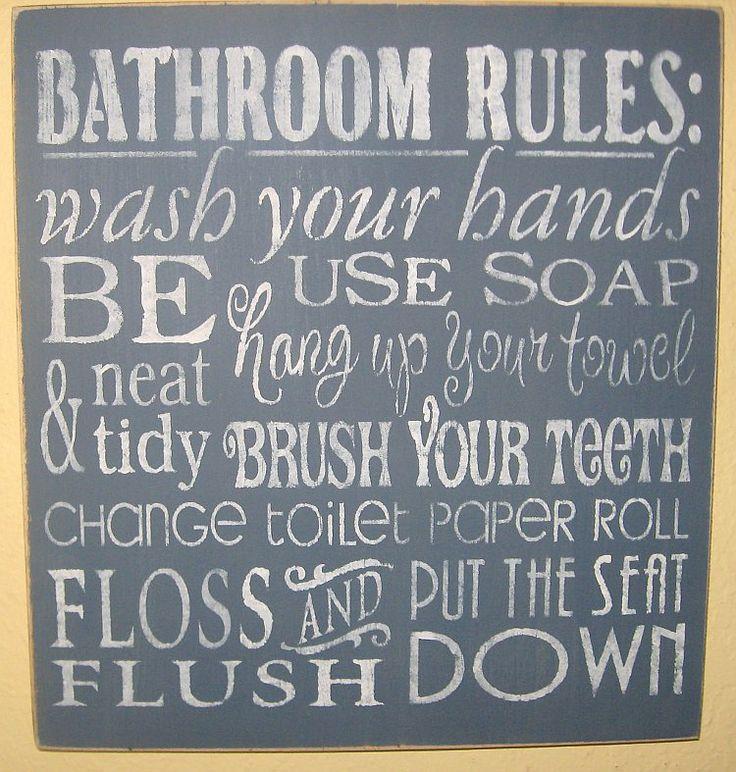 Cute Bathroom Sign