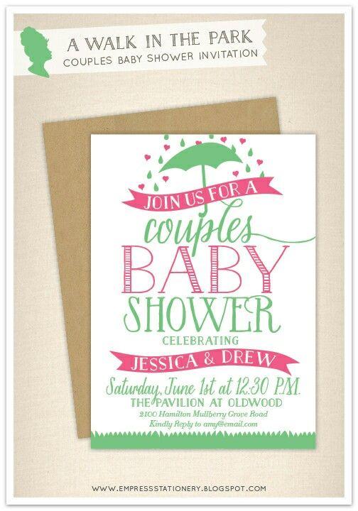 couples baby shower invitations baby girl e pinterest