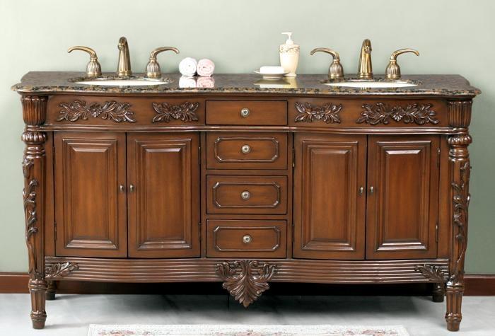 ornate vintage double bathroom vanity bathroom ideas all pin
