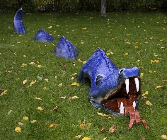 Sea Dragon Garden Sculpture