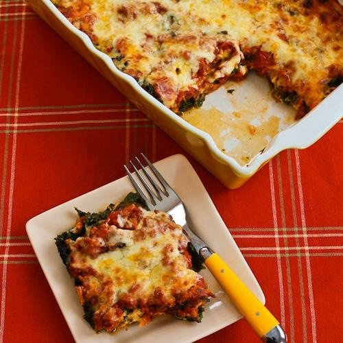 Sausage and Kale Mock Lasagna … | try | Pinterest