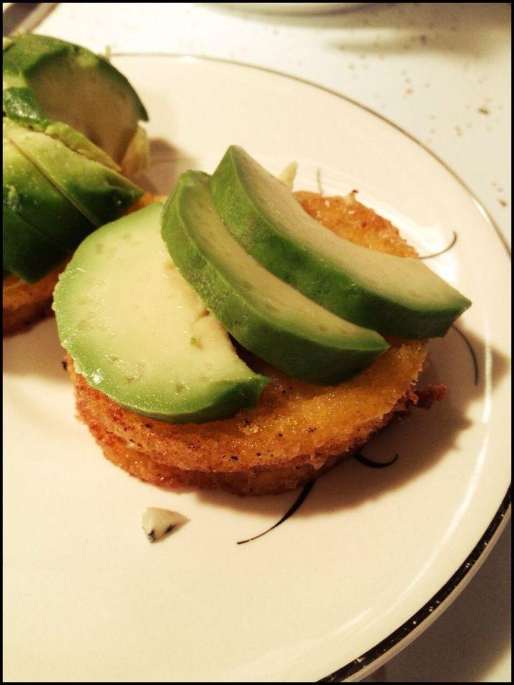 How to Make Fried Polenta W/ Blue Cheese and Avocado | Recipe