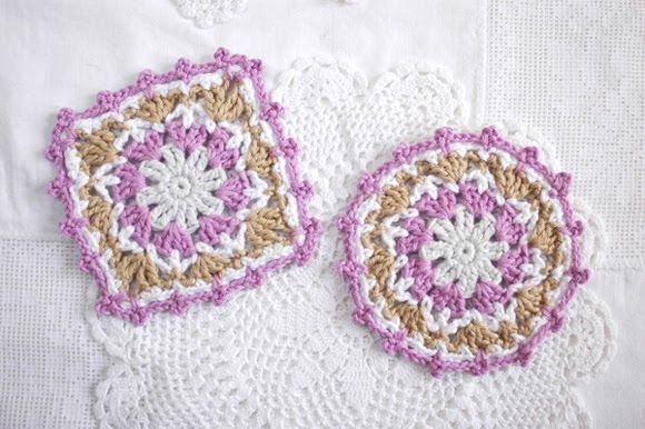 Free Crochet Mug Coaster Pattern : Lacy crochet coasters ~ free patterns Coasters + Coffee ...