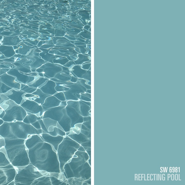 sherwin williams blue paint color reflecting pool sw 6981 summer colors pinterest. Black Bedroom Furniture Sets. Home Design Ideas