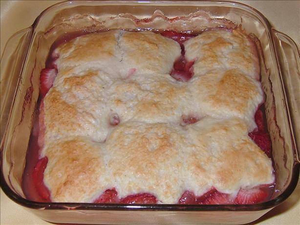 Strawberry Cobbler Cake Recipe — Dishmaps