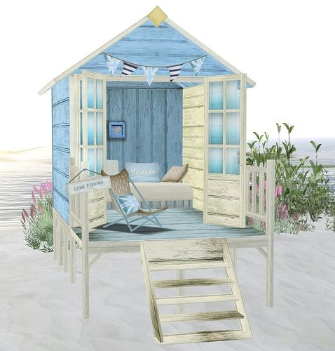 English Seaside Beach Hut