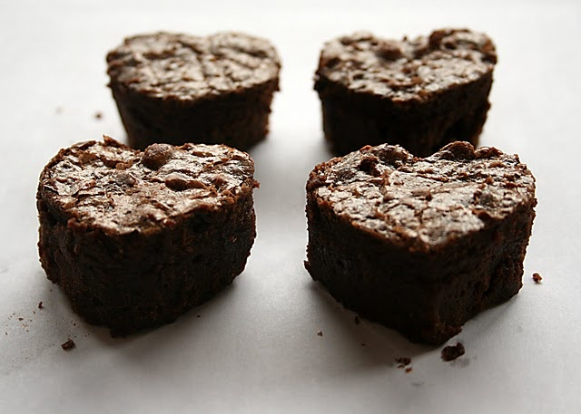 heart brownies valentine's day recipe
