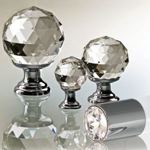 SWAROVSKI CRYSTAL DOOR KNOBS