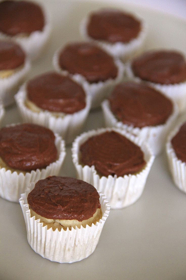 Jam Cupcakes With Chocolate Frosting Recipe — Dishmaps