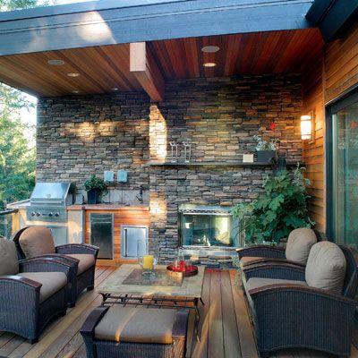great outdoor kitchens outdoor refuge pinterest