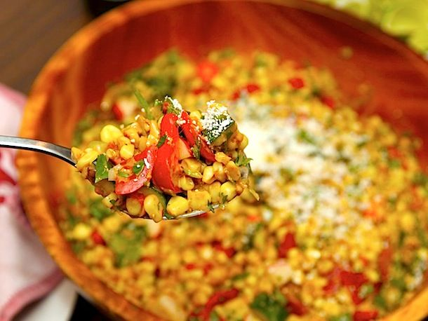 Recipe: Charred Corn and Cherry Tomato Salad with Zucchini and ...