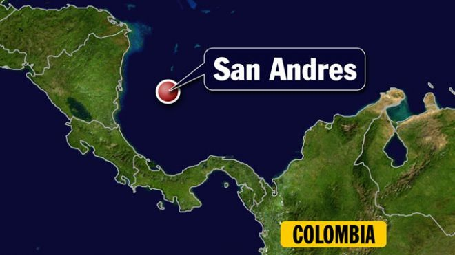 San Andres Island Colombia Map