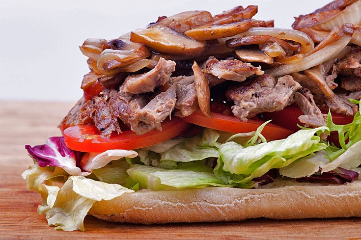 Grilled Steak Sandwiches with Mushrooms, Glazed Vidalia Onions and ...