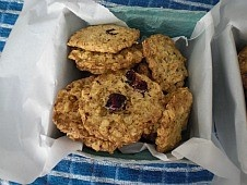 Oatmeal Lace Cookies with choice of toppings, craisins, chocolate or ...
