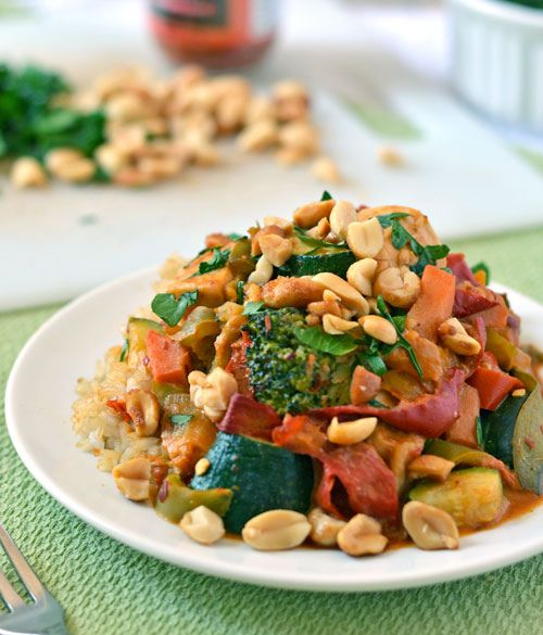 Chicken-Stir-Fry-with-Thai-Peanut-Sauce-1 by Law Students Wife, via ...
