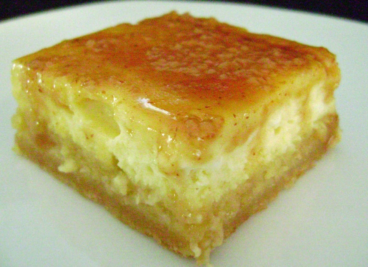 Creme Brulee Cheesecake Bars | Cheesecake. | Pinterest