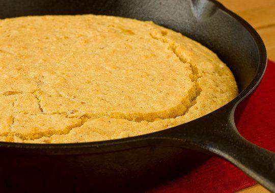 Skillet Cornbread with Creamed Corn | Recipe