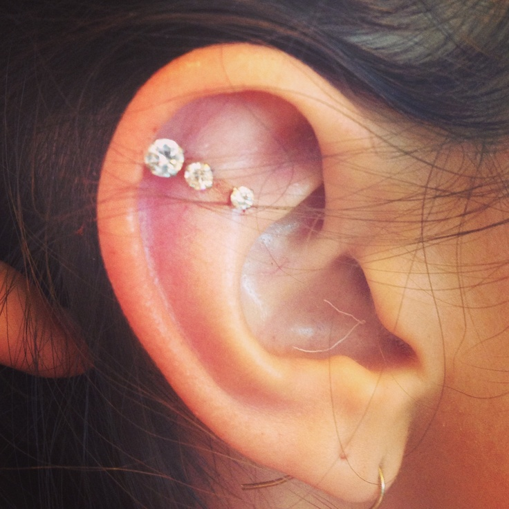Triple cartilage piercing | express yourself | Pinterest