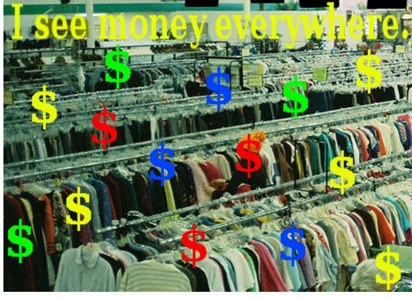 Can you find good resale items at thrift stores