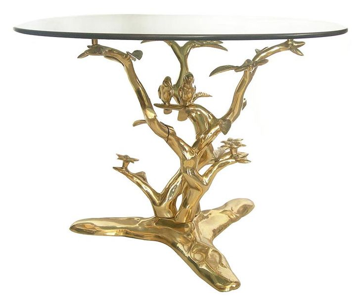Birds On A Tree Branch Bronze Coffee Table Sculpture