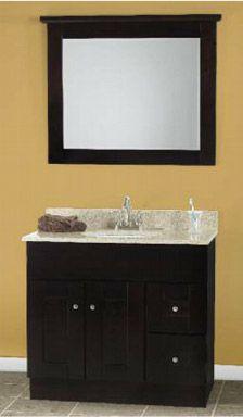 Shaker Bathroom Vanity on Mocha Shaker Bathroom Vanities By Rta Cabinet Store   Bathroom