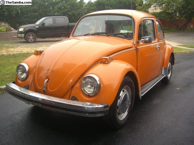 1974 orange vw beetle auto design tech. Black Bedroom Furniture Sets. Home Design Ideas