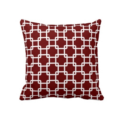 Throw Pillows Maroon : Maroon Square Link Throw Pillows