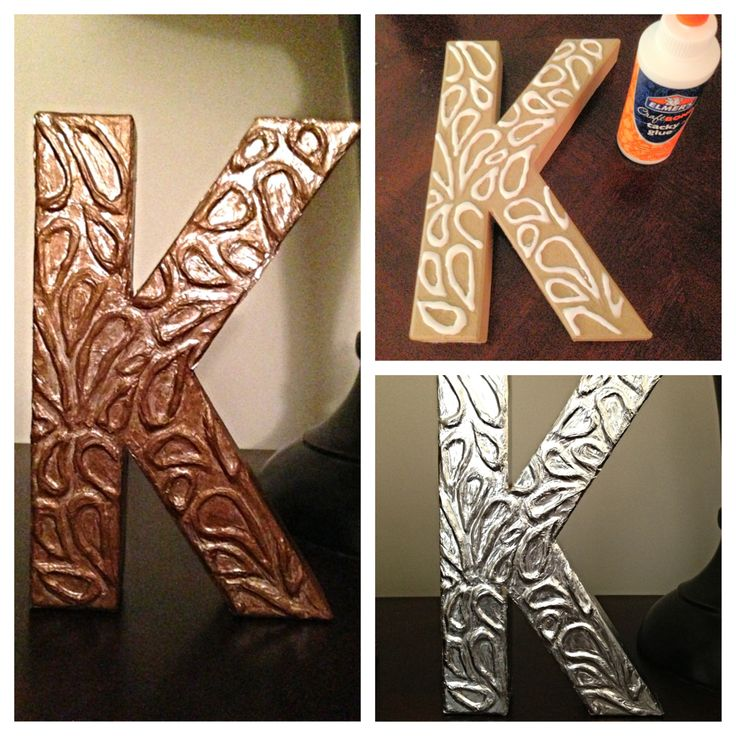 Paper m ch letter art letters pinterest for Paper mache art and craft