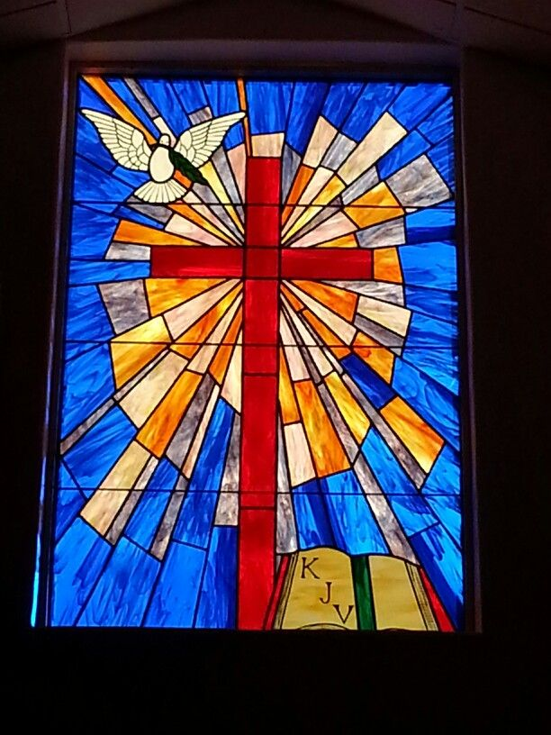 New stained glass window at my church stained glass for Stained glass window church