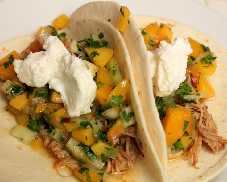 Chipotle Honey BBQ Pulled Pork Tacos with Peach Salsa