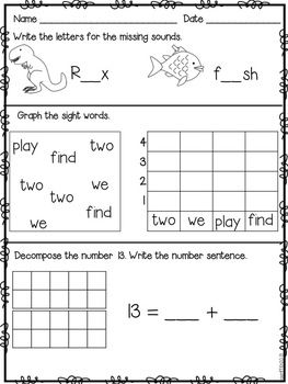 download full size images title similiar 1 grade work keywords first grade fall worksheets