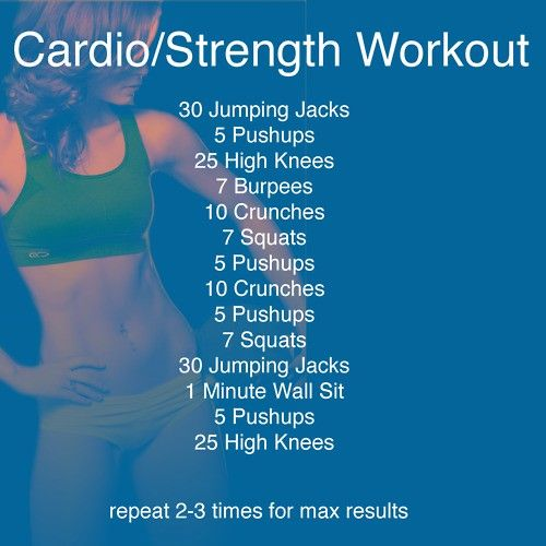 Cardio Strength Workout from: Fitness Is Sexy