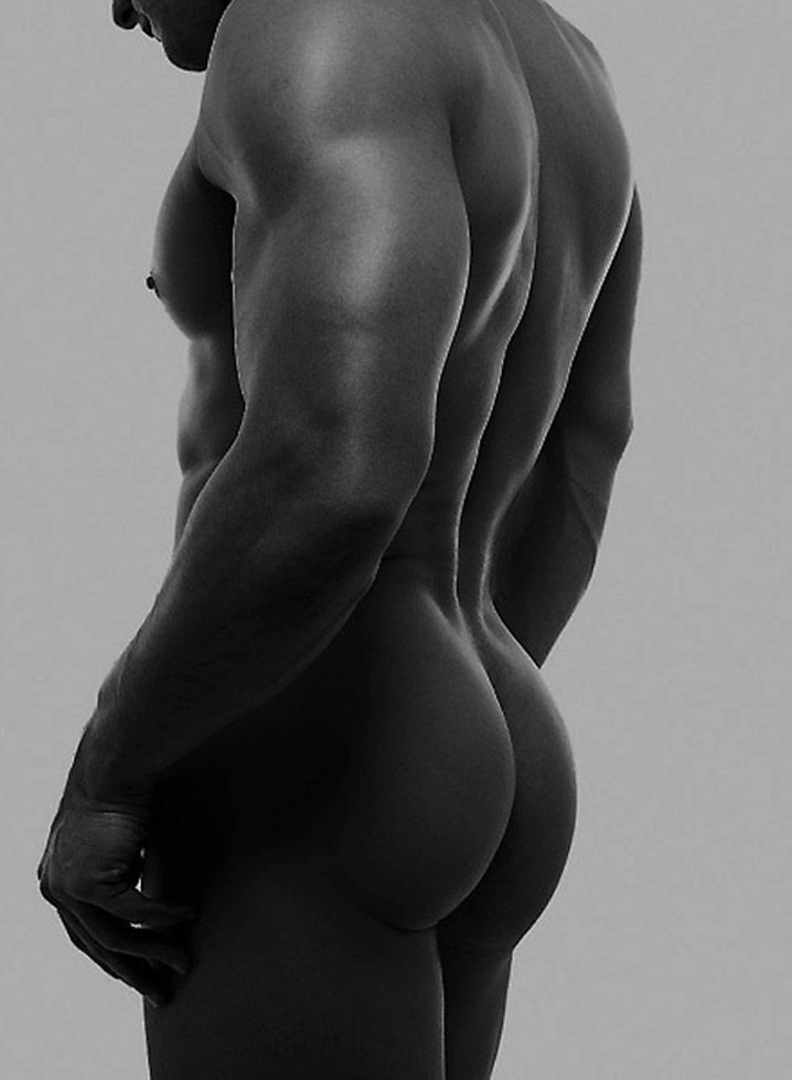 Naked black men bubble butt seems