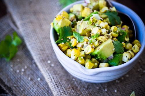 asian corn and avocado salsa | SAVORY | Pinterest