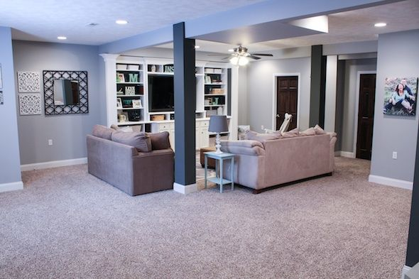 Finished Basement Ideas Before After For The Home Pinterest