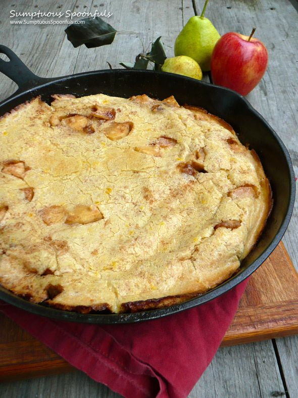 Caramelized Apple Pear Dutch Baby ~ Sumptuous Spoonfuls #breakfast # ...