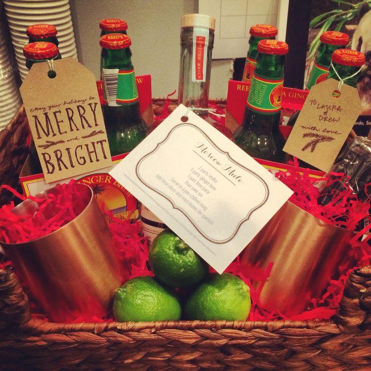 DIY moscow mule gift basket!
