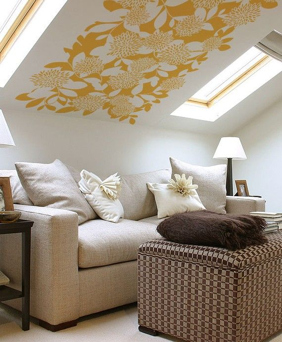 Ceiling wall decals 2017 grasscloth wallpaper for How to decorate slanted ceilings