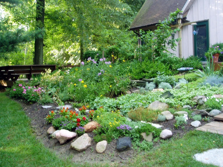 Rock Garden At My House Gardening Pinterest