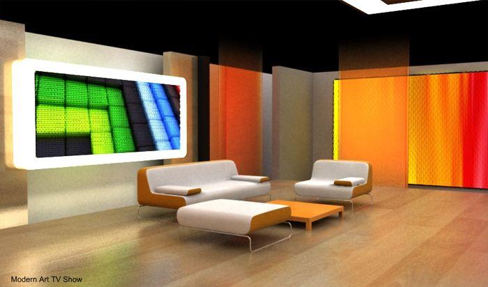 TV Set Design   KA   Pinterest