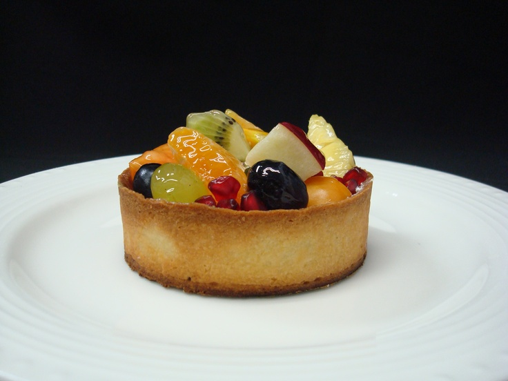 Fresh fruit yogurt tart, healthy option of dessert comprising of fresh ...