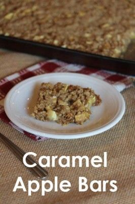Caramel Apple Bars: Easy fall recipe that includes gluten-free ...